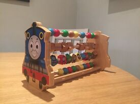 Childrens Thomas The Tank Engine Wooden Abacus