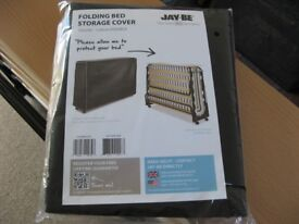 Jay-Be Folding Guest Bed Cover, 120 cm Double, Black. Polypropylene. NEW Genuine