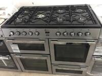 BRAND NEW Flavel black & silver 7 burner range gas cooker cheap