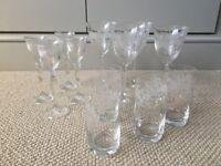 Shabby Chic Glass Set