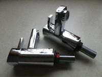 2no 1/2 inch Chrome plated brass taps bought from Toolstation. £30.00. Boxed,