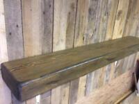 Mantel beam shelf