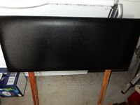 HEADBOARD FOR 3FT SINGLE BED BLACK FAUX LEATHER