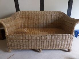 Wicker sofa/armchair/coffee table originally from Country and Eastern