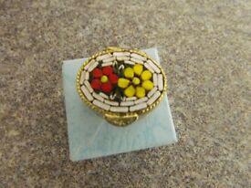 italian micro enamel mosaic pill box
