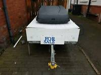 6FT BY 4FT EX TRAILER TENT CONWAY DL GALVINISED CHASSIS WITH SPARE WHEEL