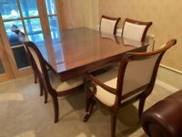 Dining table Mahogany with 6 chairs