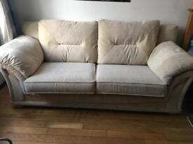 Beige 2 seater sofa for sale