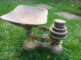 Old fashioned weighing scales.