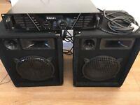 Ibiza 600 Amp & 2x Speakers