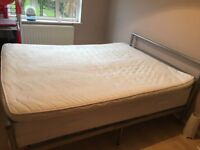bed with a mattress
