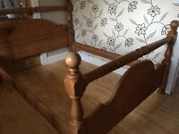 LARGE KING SIZE CHUNKY PINE BED FRAME