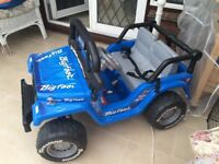 Bigfoot Motorised Jeep (12V) Battery Operated Ride On 2-Seater Toy - excellent condition