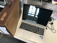 """Boxed Asus S500CA laptop, Intel core i3, 256GB SSD,15.6"""" Touchscreen, 4GB ram."""