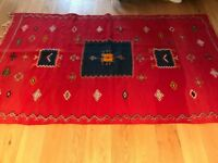 Red Moroccan Rug (260cm x 150cm) - £100
