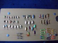 FISHING LURES & SPINNERS [ 61 brand new with box ]