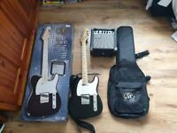Unused Telecaster SX Electric Guitar Kit: SE2-SK BK