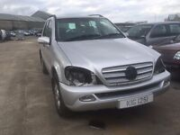 2002 2.7 Diesel Mercedes ML270. Breaking for parts only. Postage Nationwide