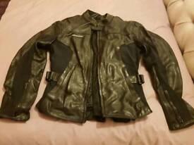 Size 14 small ladies black leather biker jacket