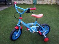 Thomas Go Bike 12 inch wheels 3 4 5 year old Kid's Child's Stabilisers The Tank Engine and Friends