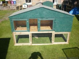 large rabbit hutch 6ft