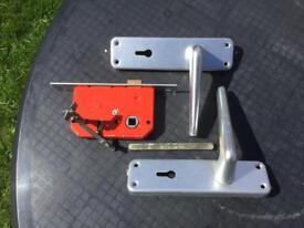 2Sets of Aluminium Door Handles and Locks with Keys FREE