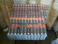 Complete set of Inspector Morse on VHS Video cassette. 28 tapes in total.