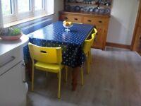 4 Bright Yellow Chairs