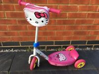 Hello Kitty 3 wheeled scooter
