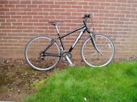 "CARRERA, HYBRID BIKE, 18"" Alloy frame, 700 c alloy wheels, FULLY SERVICED.RRP £270"