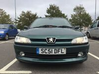 PEUGEOT 306 MERIDIAN AUTOMATIC 1.6 ESTATE 2002\\ SERVICE HISTORY\\ HALF LEATHER TRIM SEATS £640