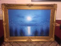 Beautiful golden picture frame