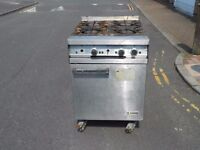 FALCON 4-RING COMMERCIAL COOKER WITH OVEN ON WHEELS, GAS COMMERCIAL COOKER