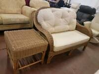 Wicker two seater sofa