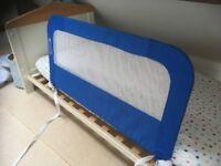 Mother care blue infant bed guard