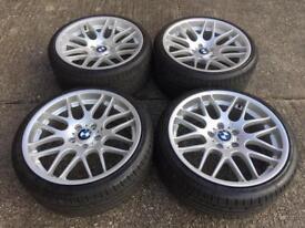 """19"""" BMW CSL style Alloy wheels & tyres 5x120"""