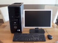 """Dell XPS 420 Hi Spec Desktop PC - 19"""" LCD Dell Monitor - Official Windows 10 - New Mouse & Keyboard"""