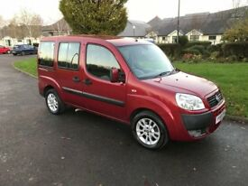 2009 Fiat Doblo 1.4 petrol wheelchair accessable car