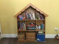 Children wooden bookcase