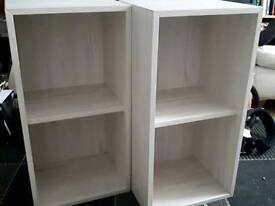 2 IKEA EKET CUBE STORAGE BOOKCASE SHELF SHELVING UNITS 2 CUBES BOOK CASE