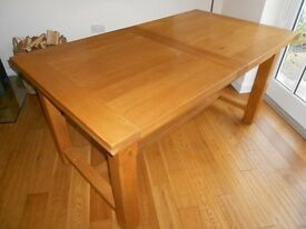 "FRENCH OAK EXTENDING DINING/KITCHEN TABLE PURCHASED FRO ""SPIRIT OF THE WOOD "" PERTHSHIRE"