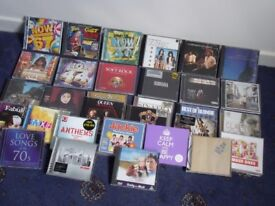 LARGE COLLECTION OF CD'S (APPROX 35 ) WITH CD TOWER/RACK USED