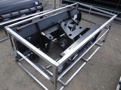 2021 New 72 Wide Dozer Blade Skid Steer W Hydraulic Power Angle Control