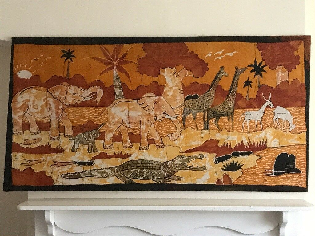 Authentic African Painting of Wildlife in the Bush