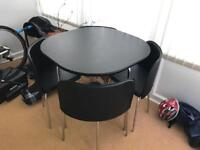 Hygena space saving table and 4 chairs