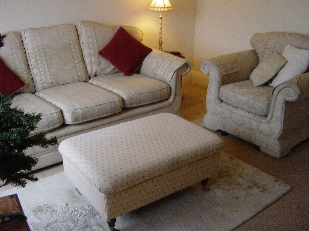 two piece suite - three seater sofa and armchair - can deliver