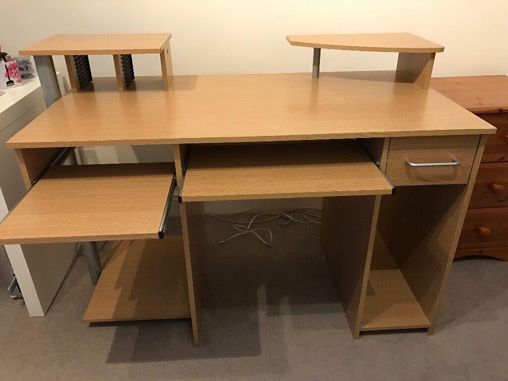 Homebase Light Oak Effect Computer PC Desk For Sale In