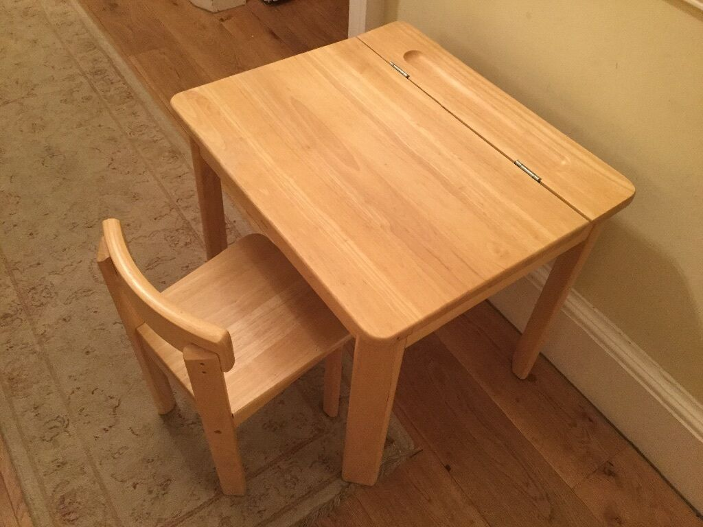 John Lewis School Desk With Lift Up Lid And Chair
