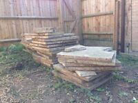 30+ Used Concrete Paving Slabs (60x60cm)