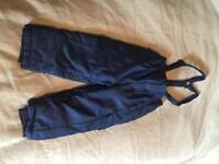 Waterproof trousers toddler girls boys 2 3years